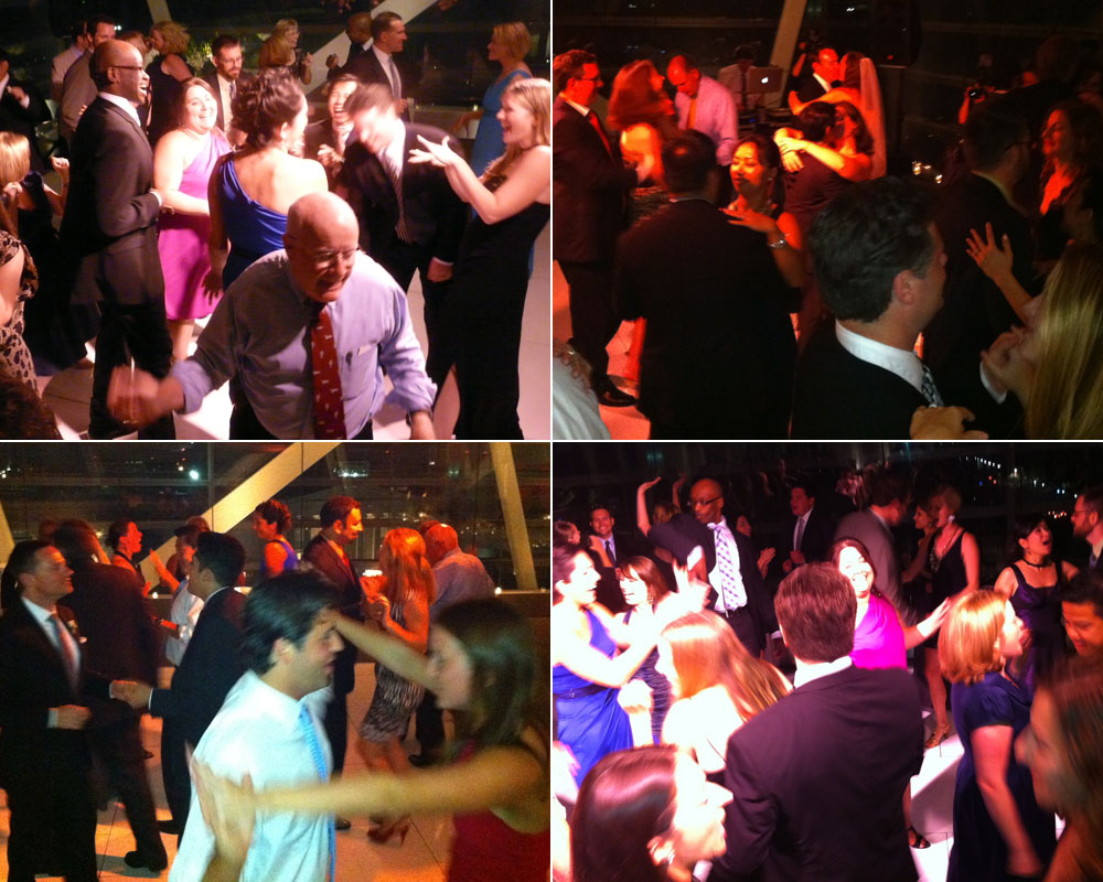 Scenes from the dance floor, Catherine and Paul's wedding