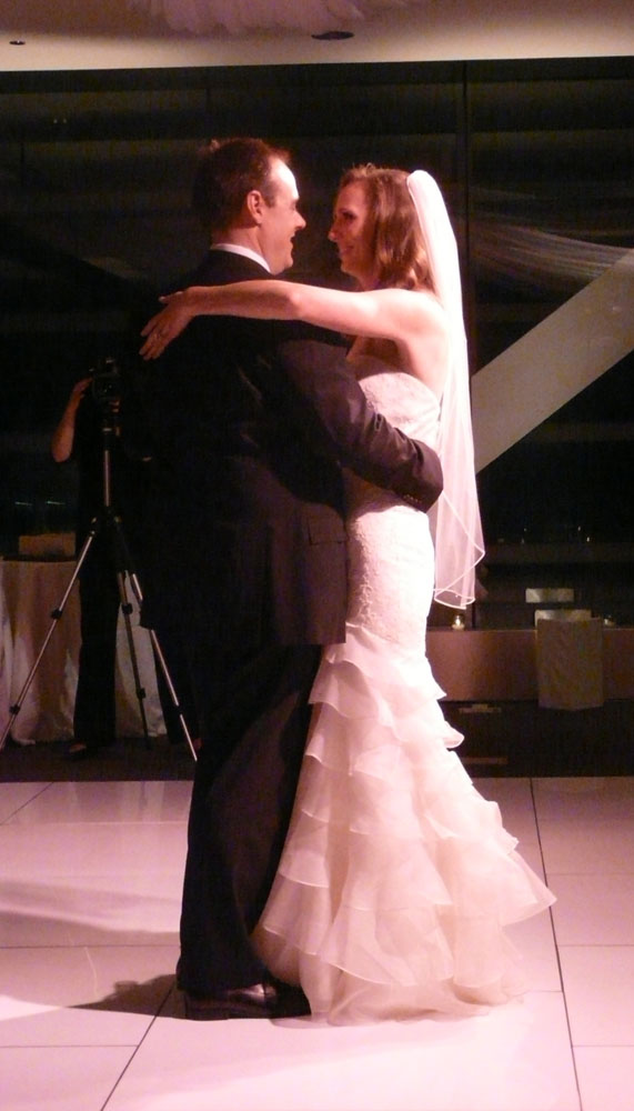 Catherine and Paul's first dance, to Willie Nelson