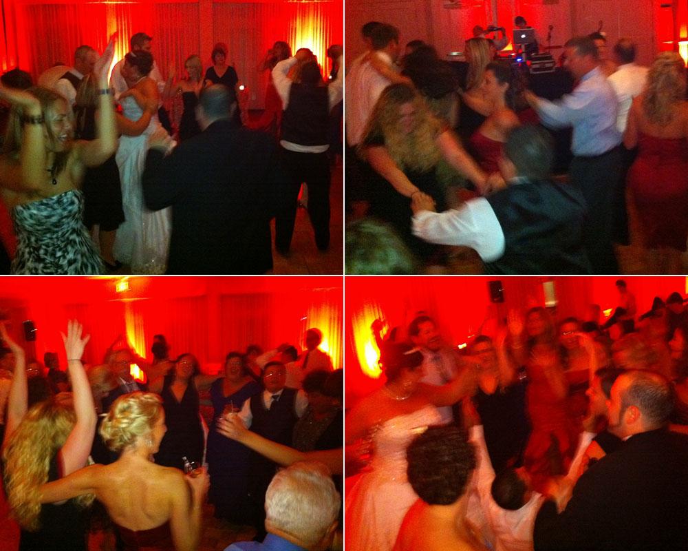 The dance floor heats up at Beth and Adam's wedding