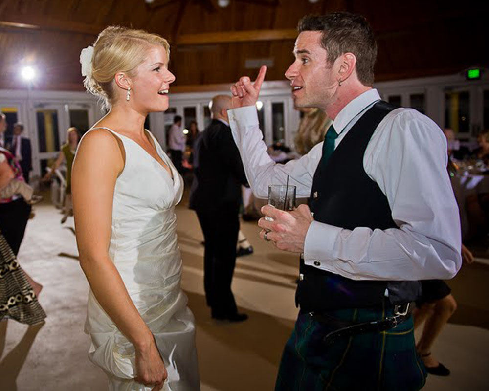 Jay and Christy on the dance floor at Airlie