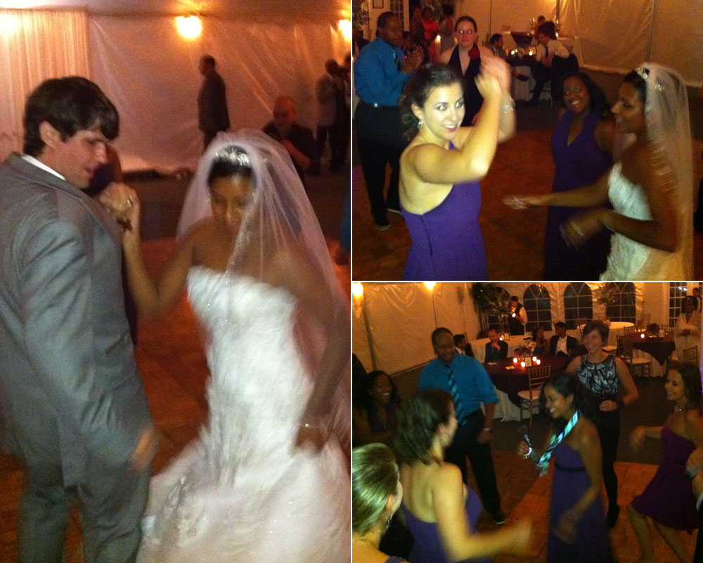 Sacha and Bryan and friends on the dance floor