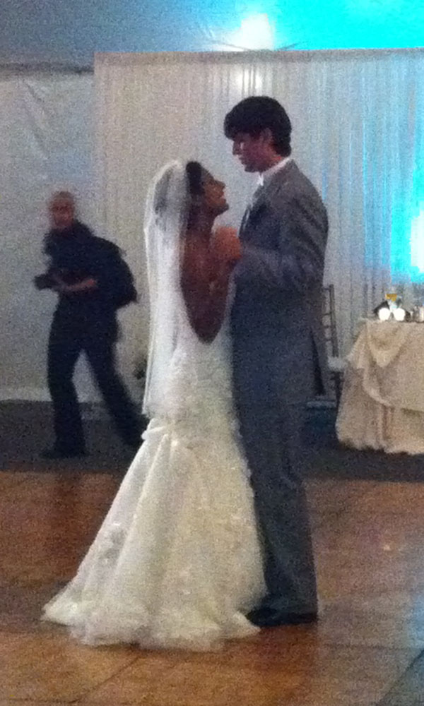 """Sacha and Bryan's first dance, to """"Here, There, and Everywhere"""""""