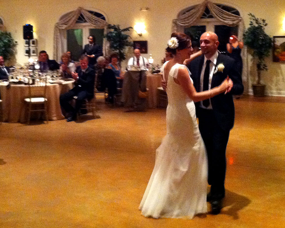 "Lori & Dejan's first dance, to Ray Lamontagne ""You Are the Best Thing"""
