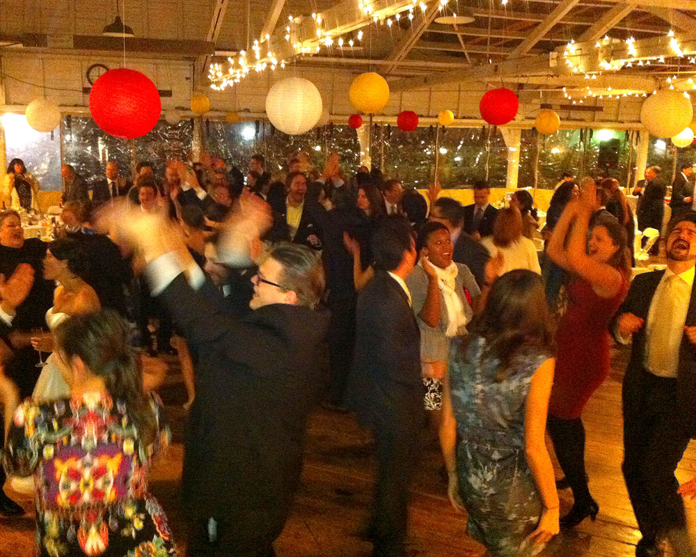 The crowd gets down in the Bumper Car Pavilion at Glen Echo
