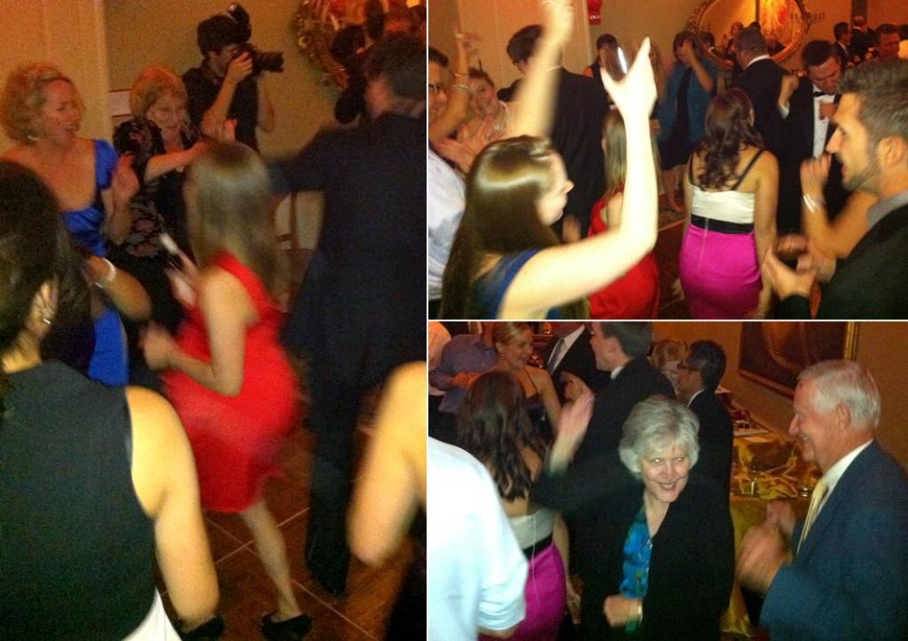 Dance floor action at Maureen and Jason's wedding