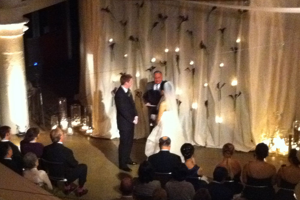 Dave & Irang's wedding ceremony at the Torpedo Factory