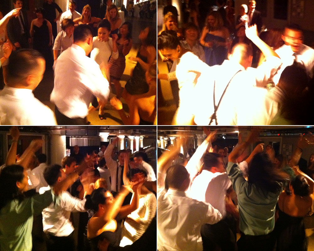 Dance-floor action at Dave & Irang's wedding