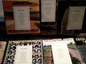 Albums on display