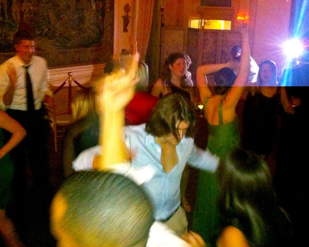 Dancefloor action at Diana & John's wedding