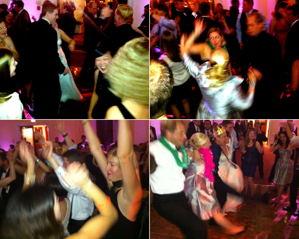 The action was non-stop on the dancefloor