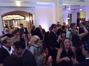 guests dance & mingle early