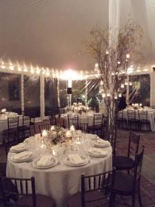 Table settings and decor at Karolina and Peter's wedding