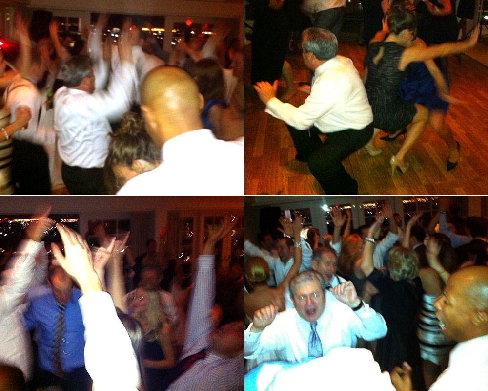 Good times on the dance floor at Carlyn & Brandon's wedding