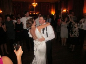 Definitely not the first dance, but a late-night twirl in the spotlight