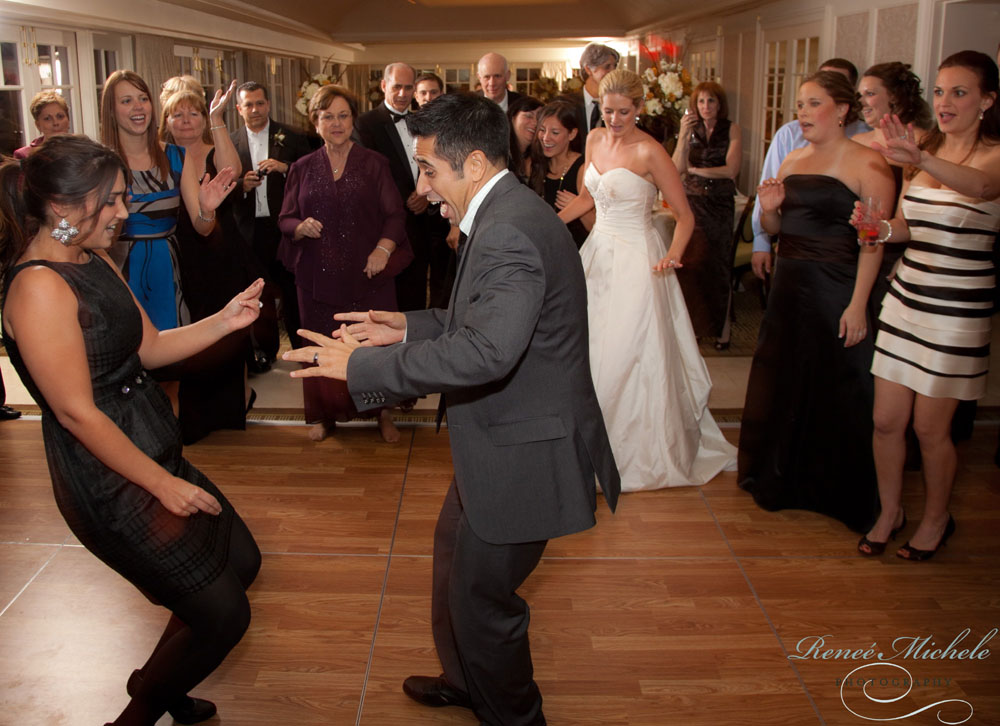 Fun on the dance floor at Carlyn & Brandon's wedding
