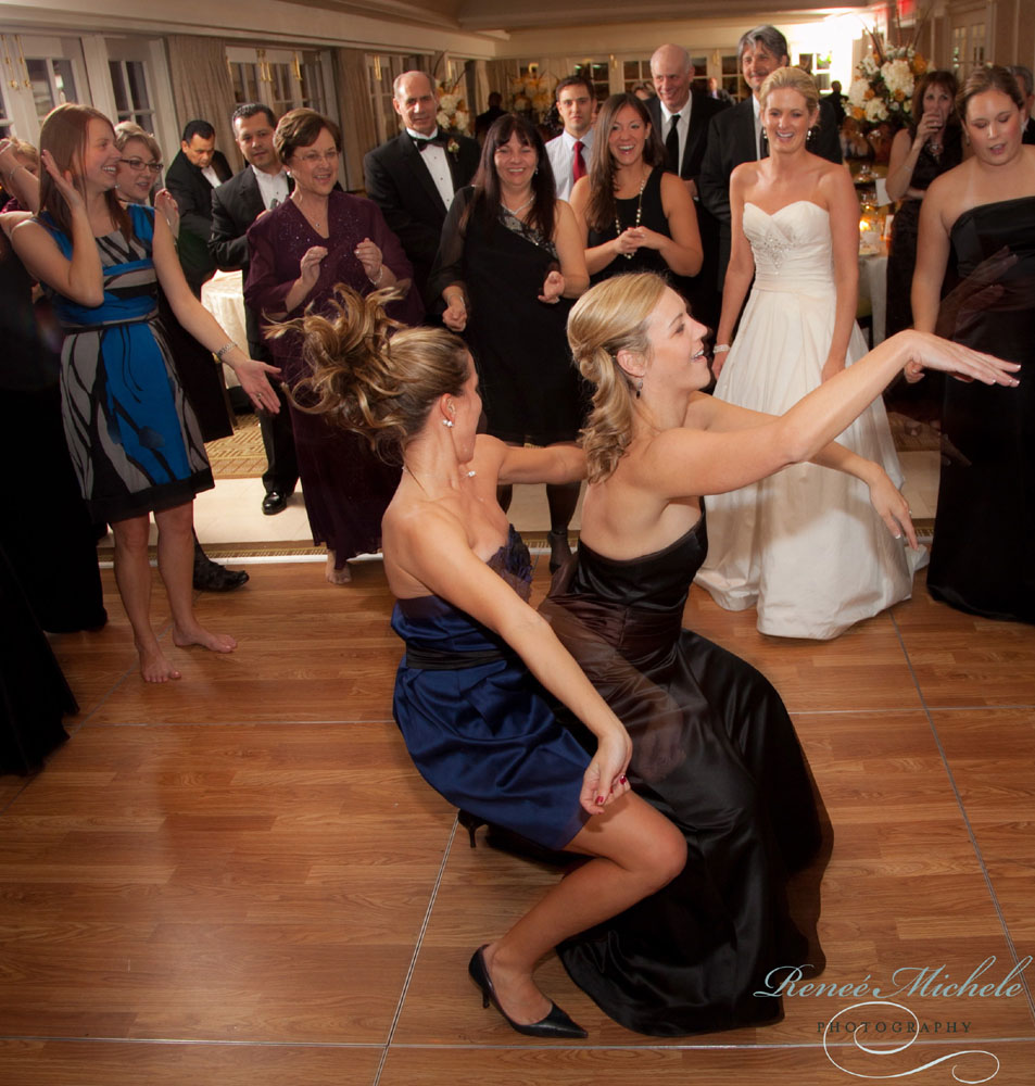 Good times on the floor at Carlyn & Brandon's wedding