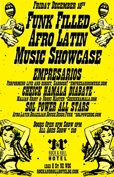 Funk Filled Afro-Latin Music Showcase at Rock & Roll Hotel, Fri. Dec 16