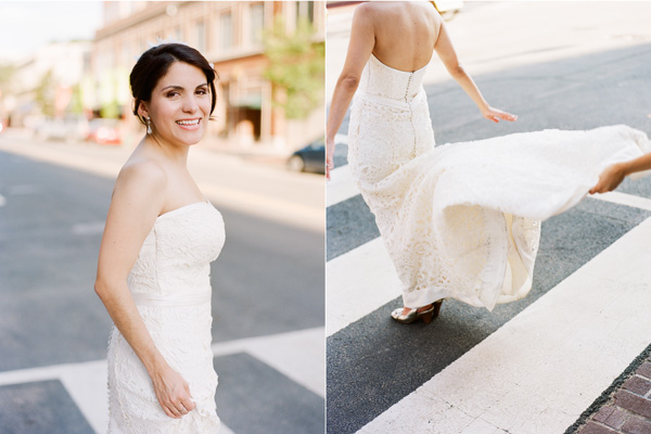 Kristen looked radiant in her gown