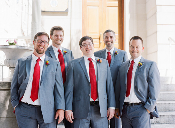 Keith and his groomsmen clearly enjoying the day