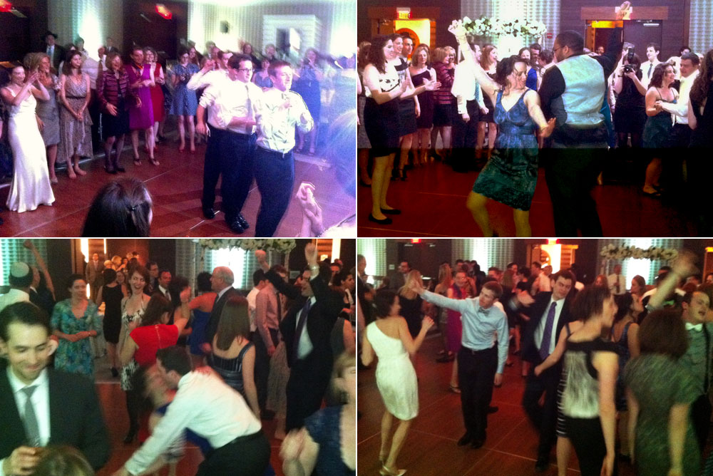 Dance floor action at Marc & Annie's wedding