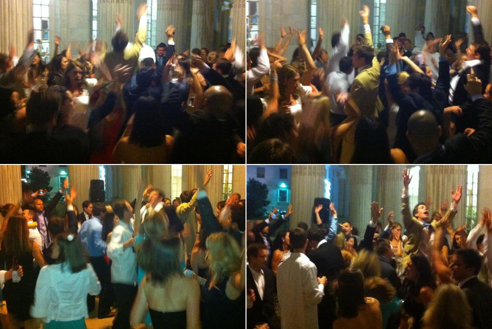 Dancefloor is hopping at Emily & Chester's wedding