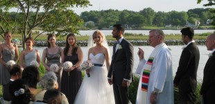 Marina and Sudhir's wedding on the Bay