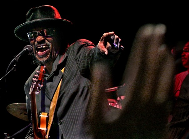 Chuck Brown winds up the crowd at the Go-Go