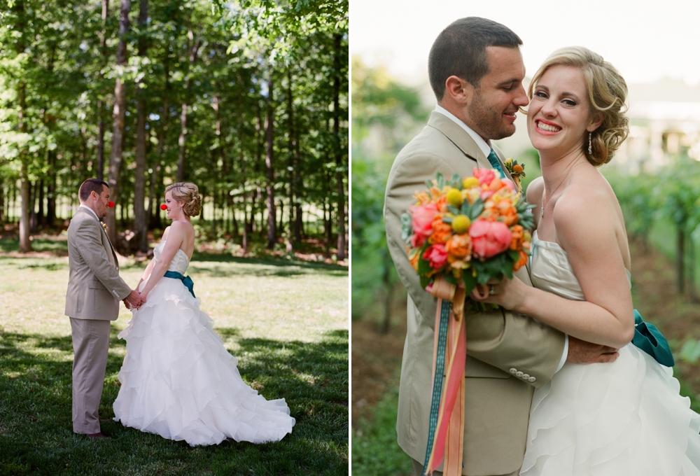 Rebecca and Justin's wedding at Veritas Vineyard & Winery (photo by Eric Kelley)