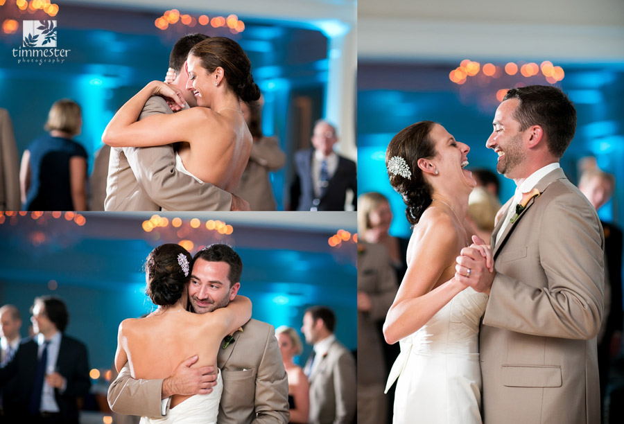 Whitney and Sean's Trump National Golf Club Wedding - first dance (photo by Timmester Photography)