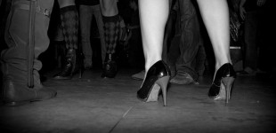 heels on the dance floor