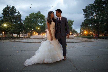 Andrea & Cesar's Wedding at Epic Yoga DC (Tom Daly Photography)