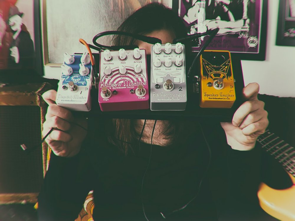 Uncle Acid & The Deadbeats Kevin Starrs' effects pedals