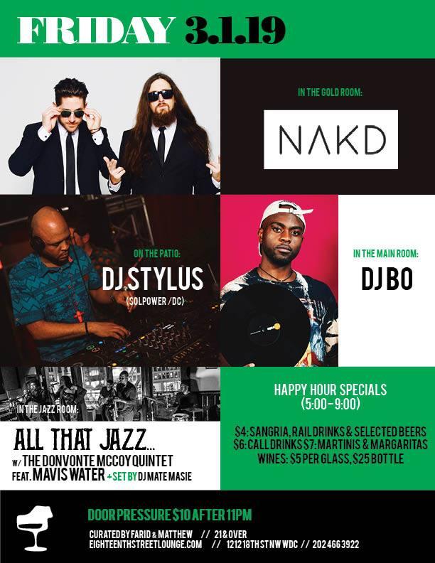 DJ Stylus at Eighteenth Street Lounge