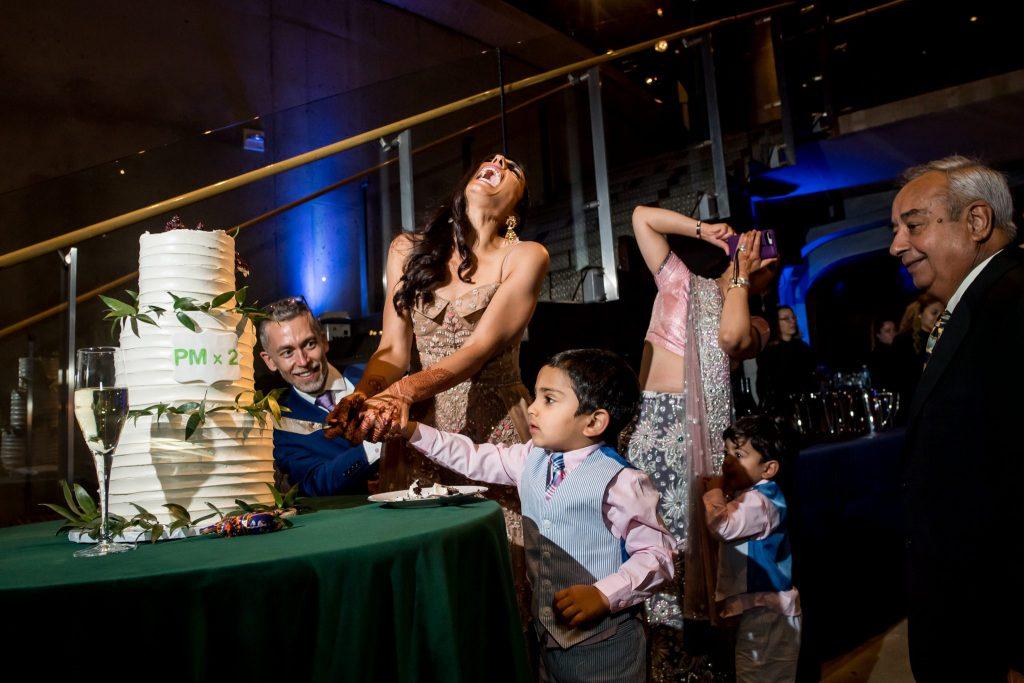 Pooja and Phil's Polyrhythmic Fusion Wedding at Arena Stage (photo: Mari Harsan Studios)